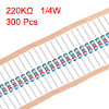 1/4 Watt 220K Ohm Metal Film Resistors 0.25W 1% Tolerances 300 Pcs