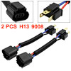 2pcs DC12V H4 to H13 9008 Car Headlight Cable Harness Socket Adapter Converter