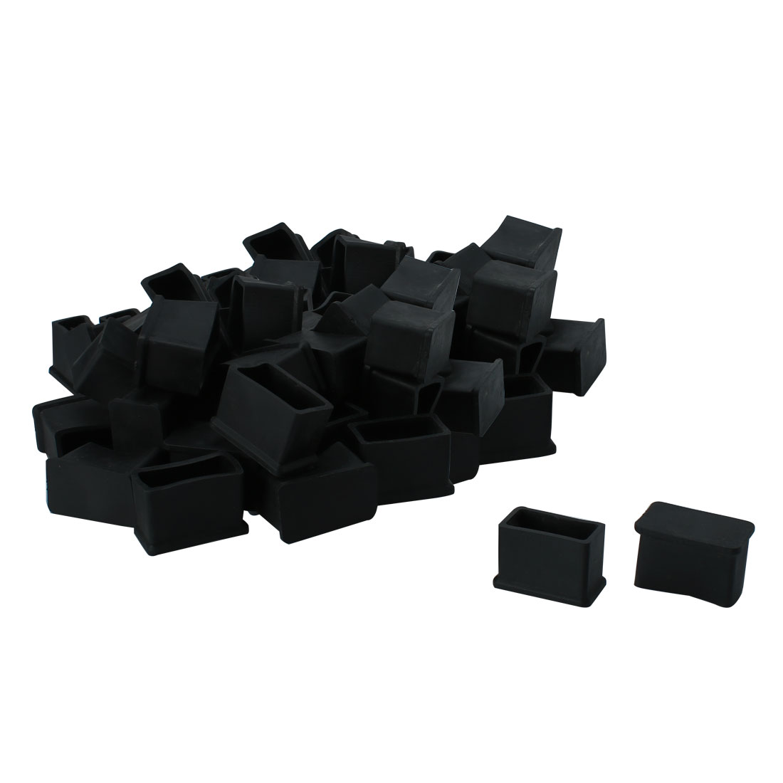 "Cabinet Leg Caps End Tip Home Furniture Protector 50pcs 0.59"" x 1.18""(15 x 30mm)"