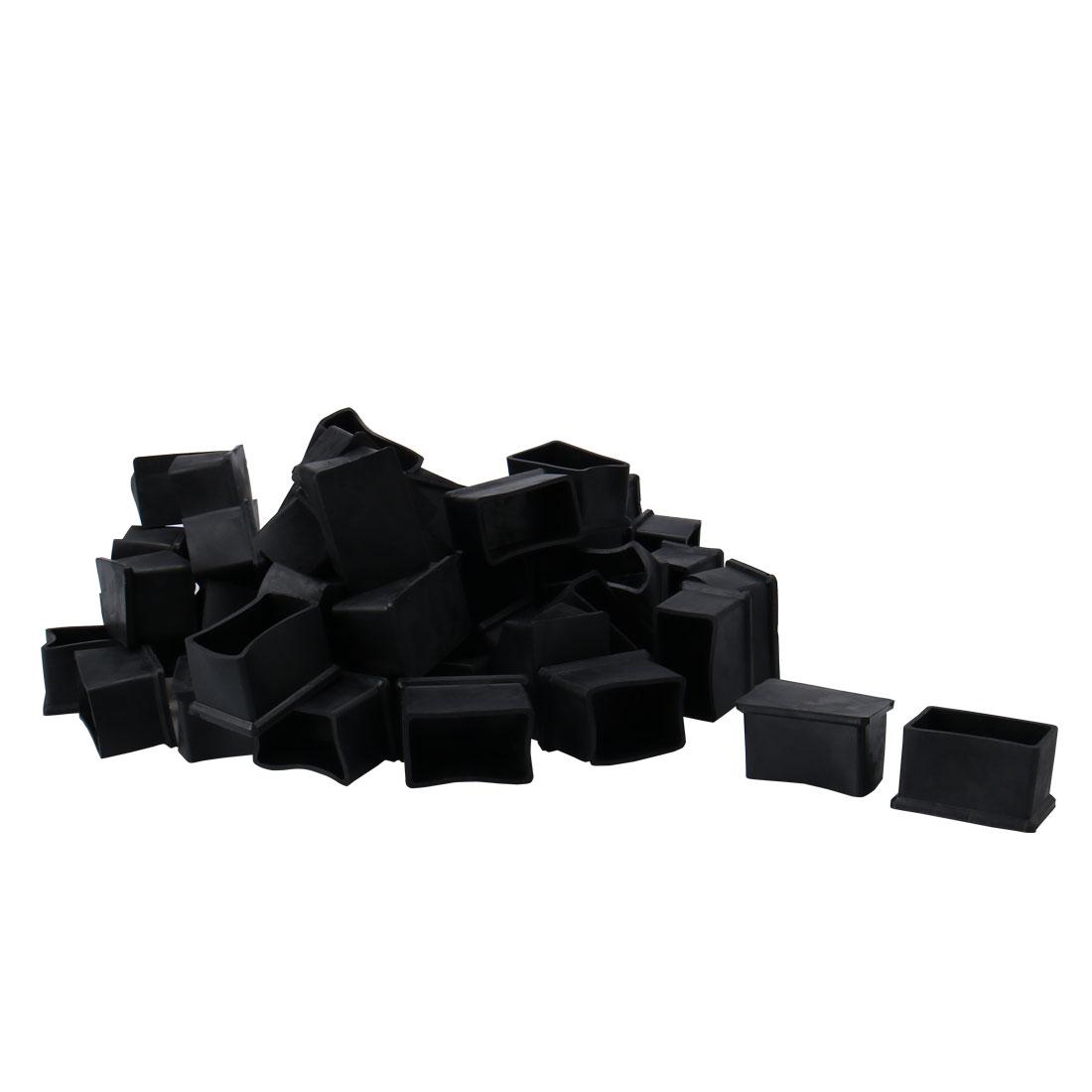 "Cabinet Leg Caps End Tip Home Furniture Protector 50pcs 1.18"" x 2""(30 x 50mm)"