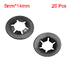 Starlock Washers , M5x14 Internal Tooth Clips Fasteners Kit , Pack of 20