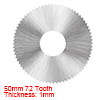 HSS Saw Blade, 50mm 72 Tooth Circular Cutting Wheel 1mm Thick w 16mm Arbor