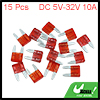 15pcs DC 5V-32V 10A Universal Red Car Fuse Replacement Small Blade Type Fuses