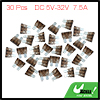 30pcs DC 5V-32V 7.5A Universal Medium Blade Style Fuse for Car Motorcycle Boat