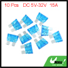 10pcs DC 5V-32V 15A Universal Middle Blade Style Fuse for Car Motorcycle Boat