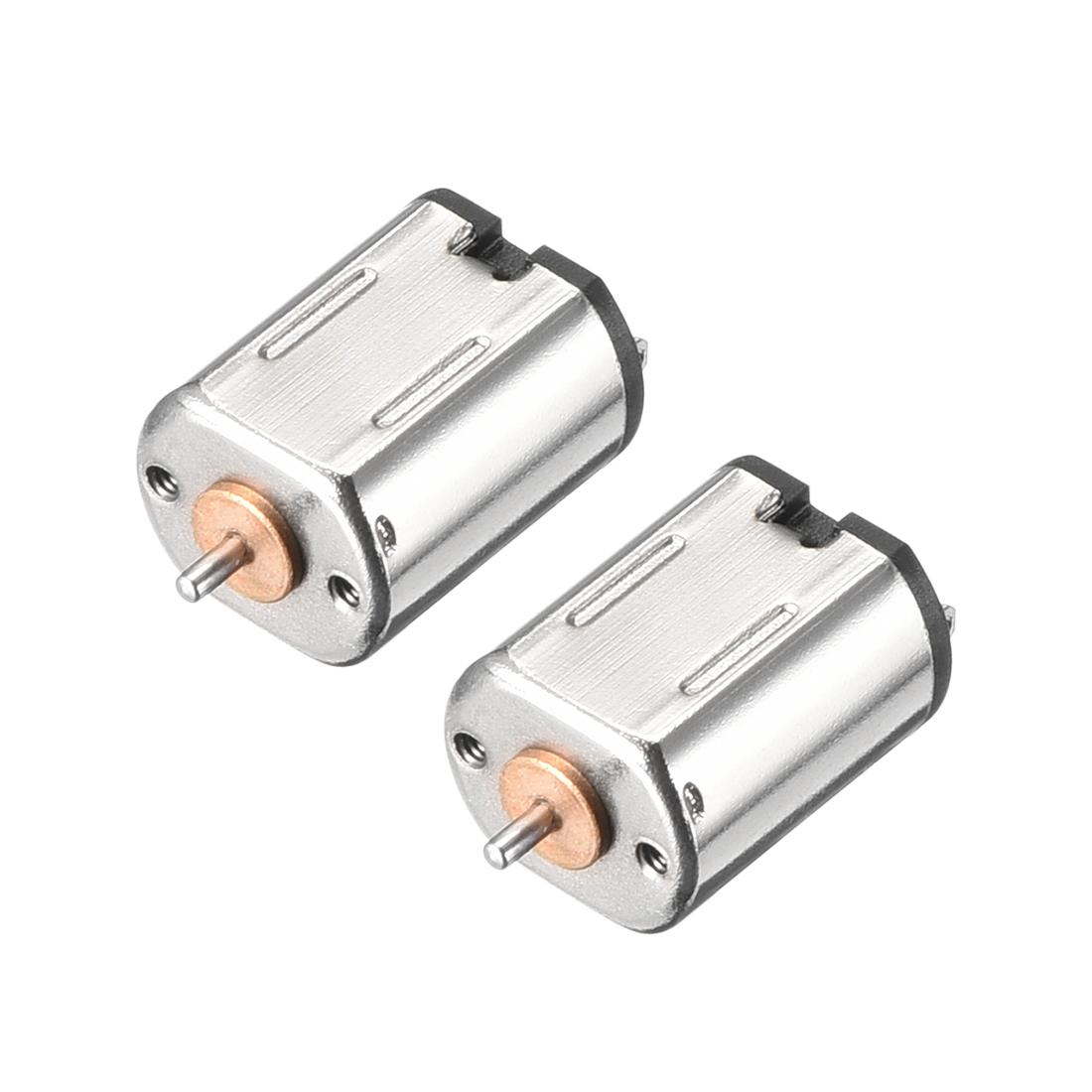 2 Pcs Motor DC 3V 11600-12000RPM High Speed Miniature Motors DIY Toy Car Parts