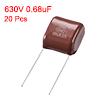 CBB21 Metallized Polypropylene Film Capacitors 630V 0.68uF 20 pcs
