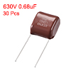 CBB21 Metallized Polypropylene Film Capacitor 630V 0.68uF 30 pcs