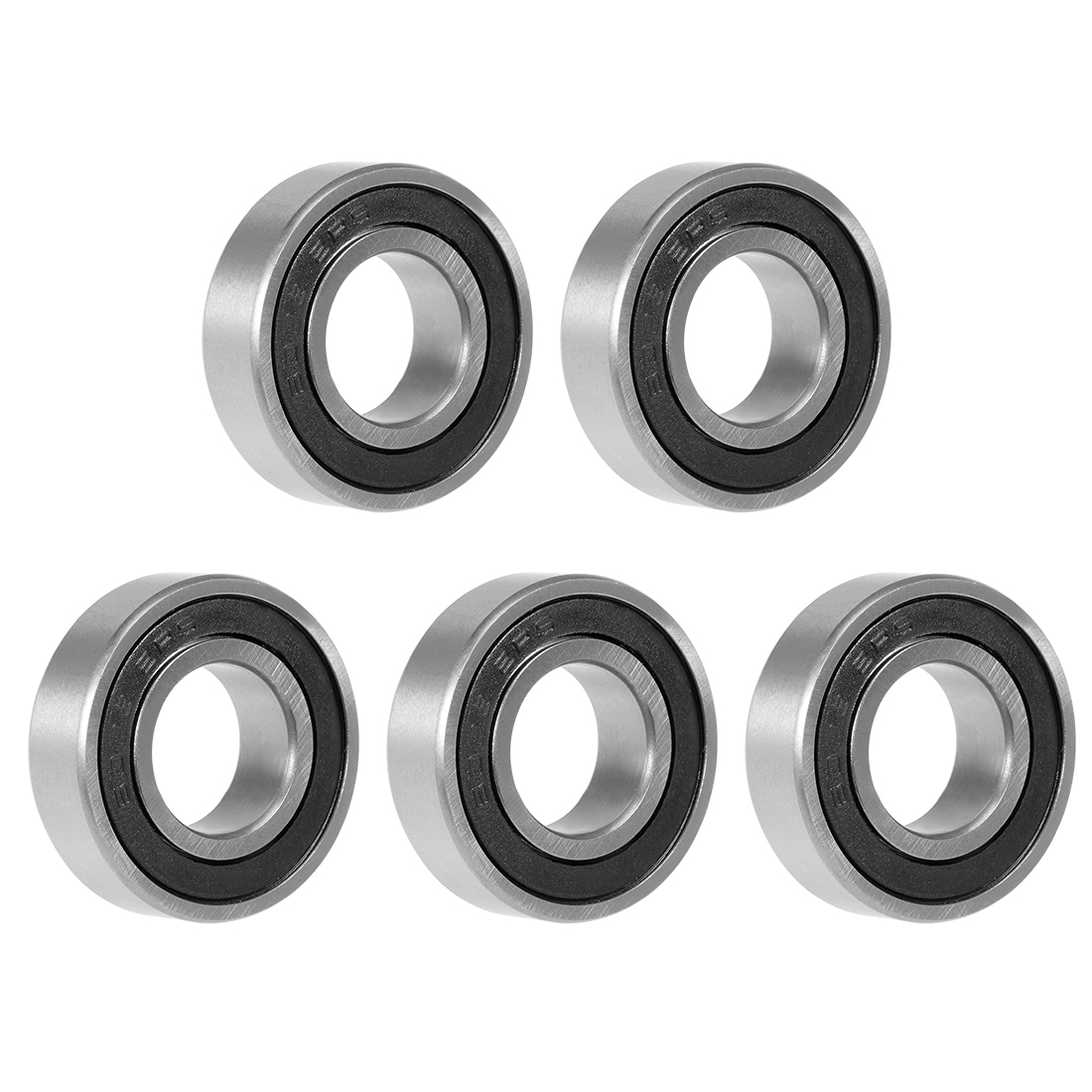 6003-2RS Deep Groove Ball Bearing 17x35x10mm Double Sealed Carbon Steel 5pcs