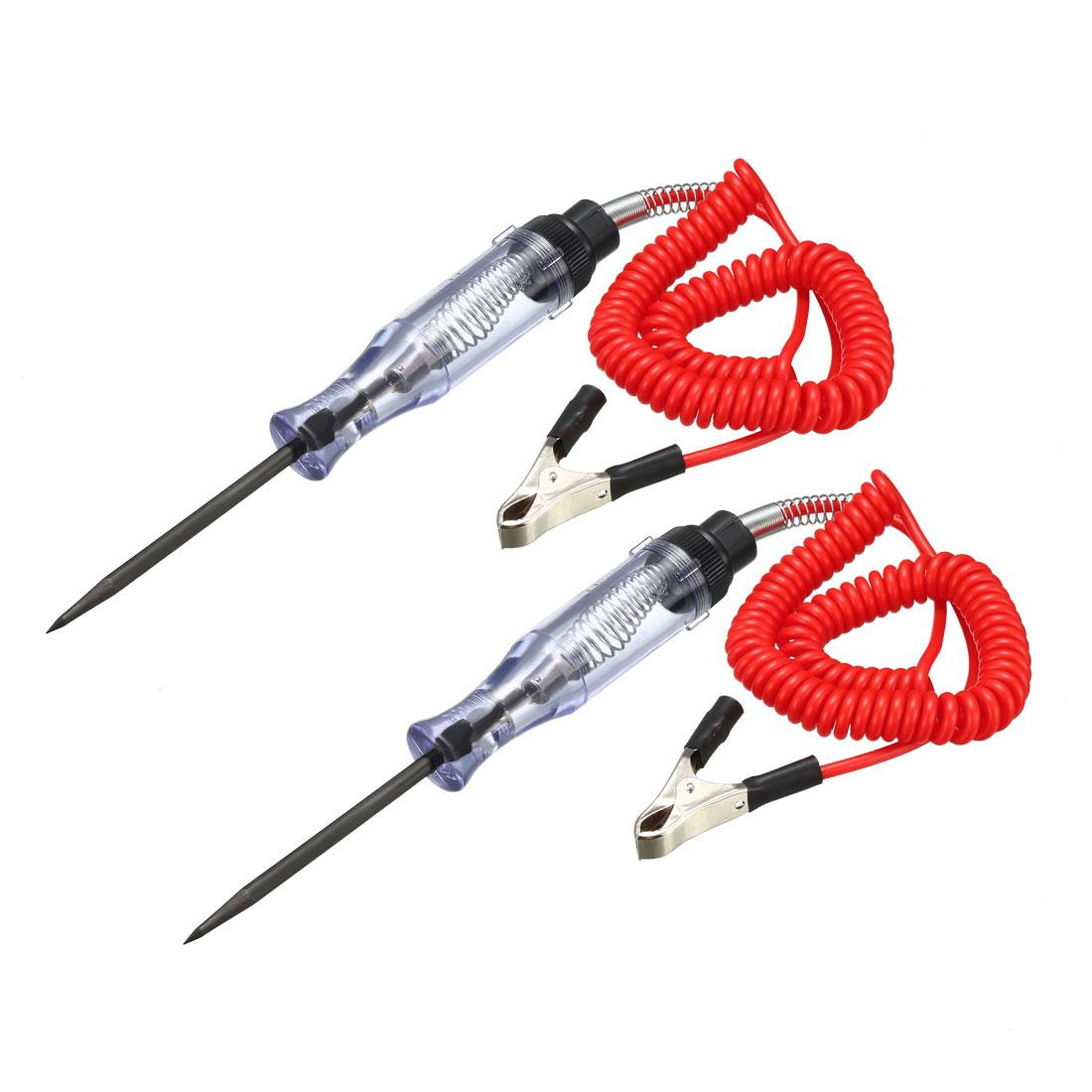 Car Voltage Tester, Auto Heavy-Duty Contact Volt Circuit Test Pen DC6V 12V 2pcs