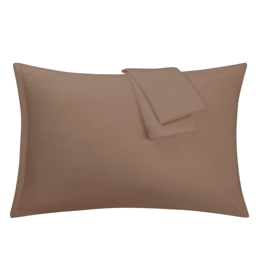 Brown Pillowcases Soft Microfiber Pillow Case Cover with Zipper Standard, 2 Pack