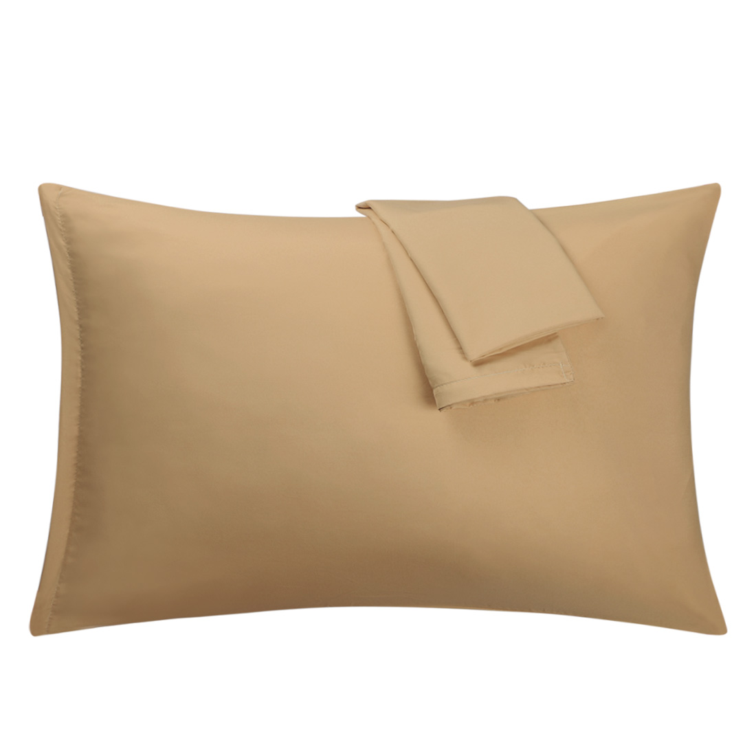 Light Brown Pillowcases Soft Microfiber Pillow Case with Zipper Standard, 2 Pack
