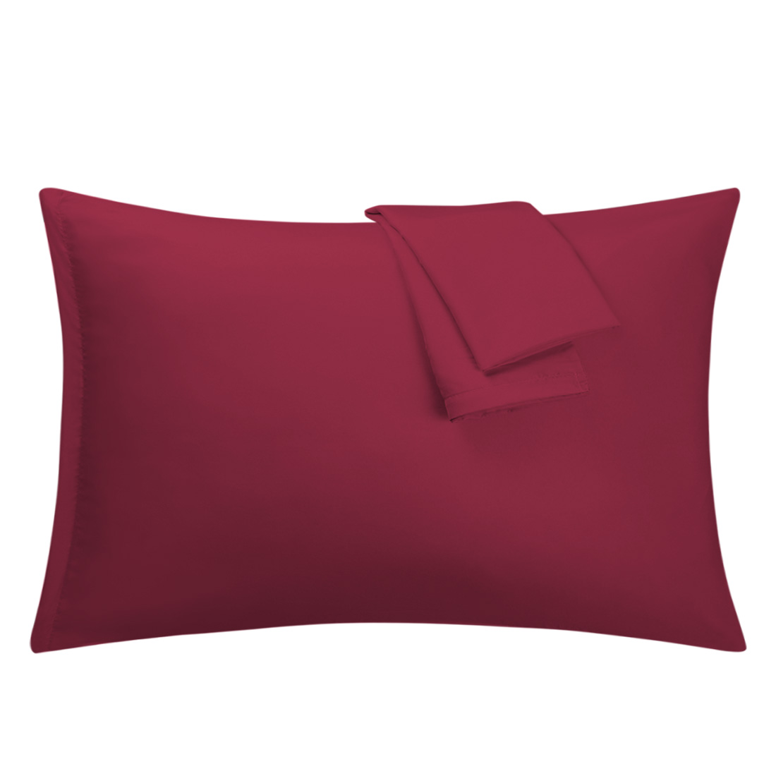 Wine Pillowcases Soft Microfiber Pillow Case Cover with Zipper Standard, 2 Pack