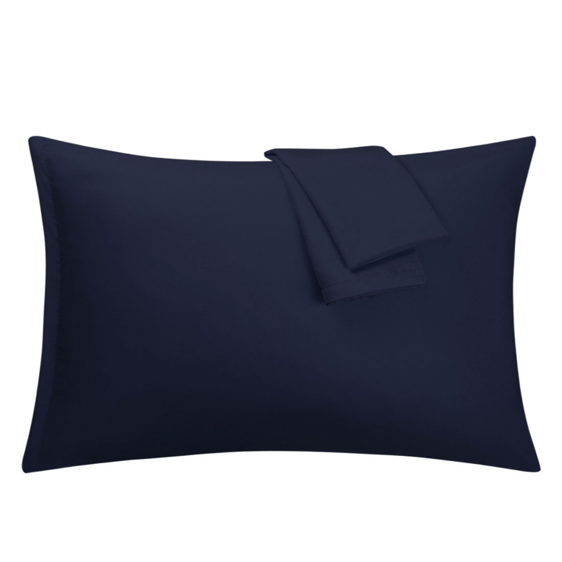 Navy Pillowcases Soft Microfiber Pillow Case Cover with Zipper Standard, 2 Pack