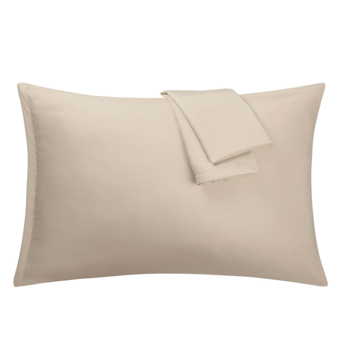 Khaki Pillowcases Soft Microfiber Pillow Case Cover with Zipper Standard, 2 Pack