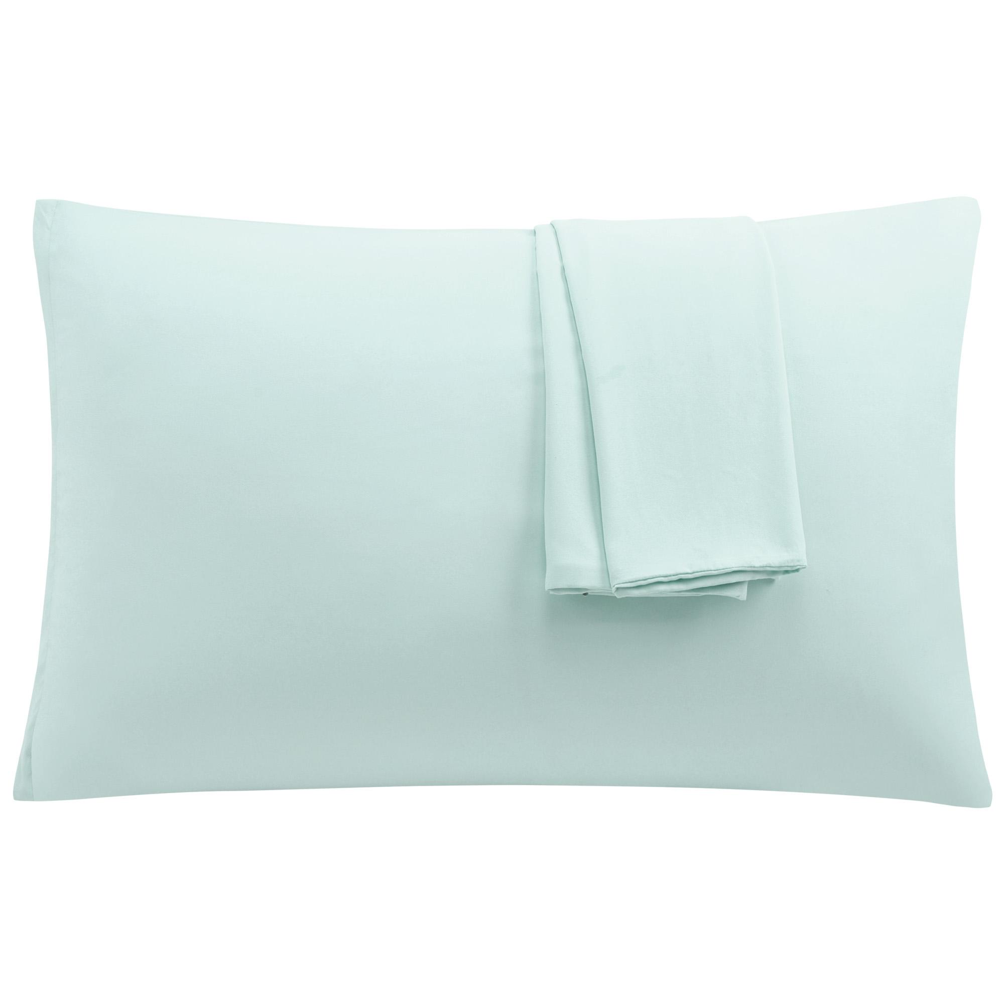 Light Gray Pillowcases Soft Microfiber Pillow Case with Zipper Queen, 2 Pack
