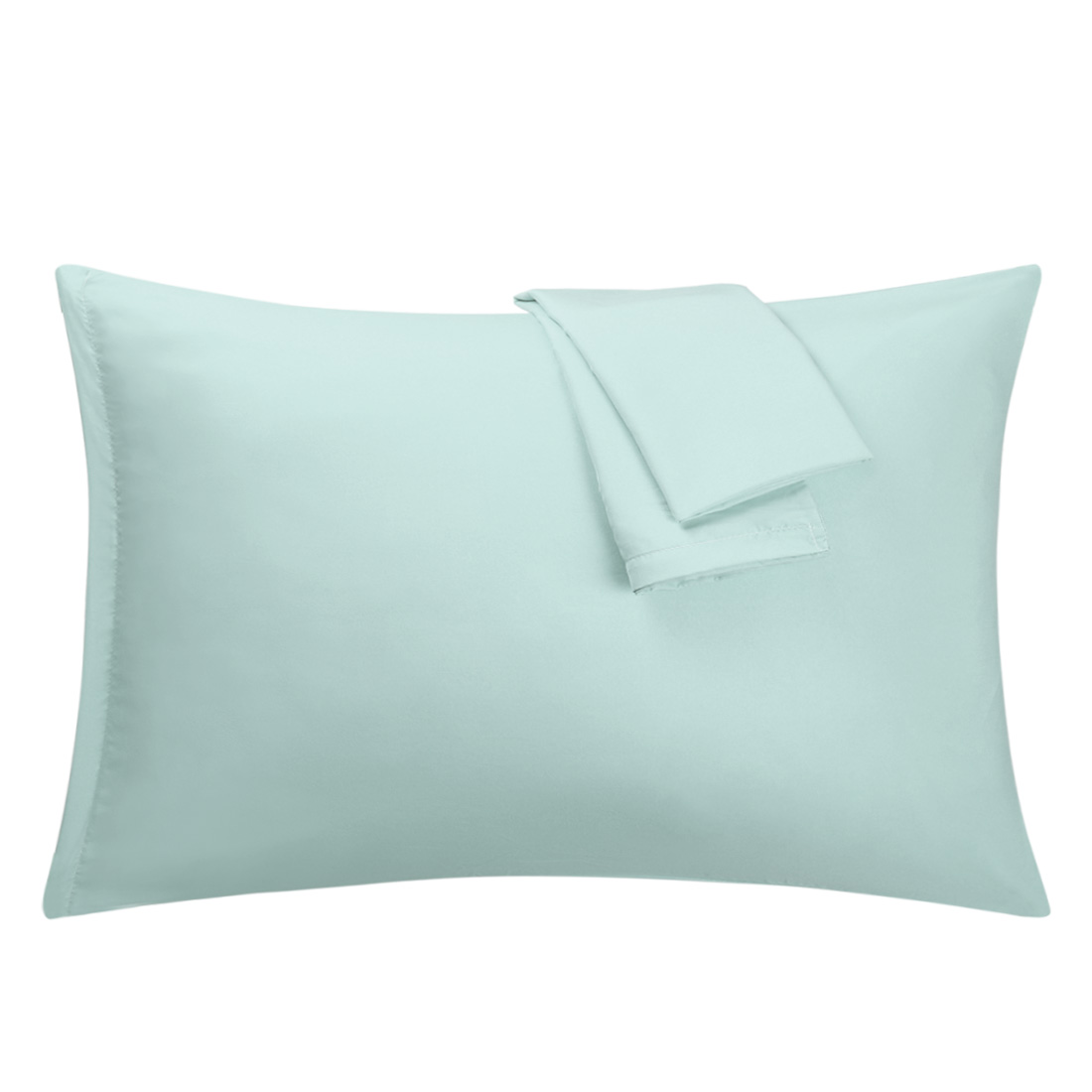 Light Green Pillowcases Soft Microfiber Pillow Case with Zipper Queen, 2 Pack