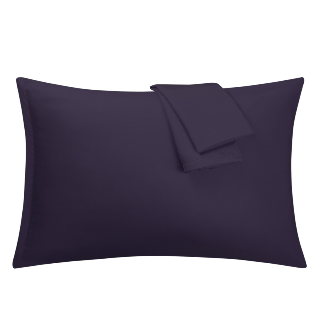 Eggplant Pillowcases Soft Microfiber Pillow Case Cover with Zipper Queen, 2 Pack
