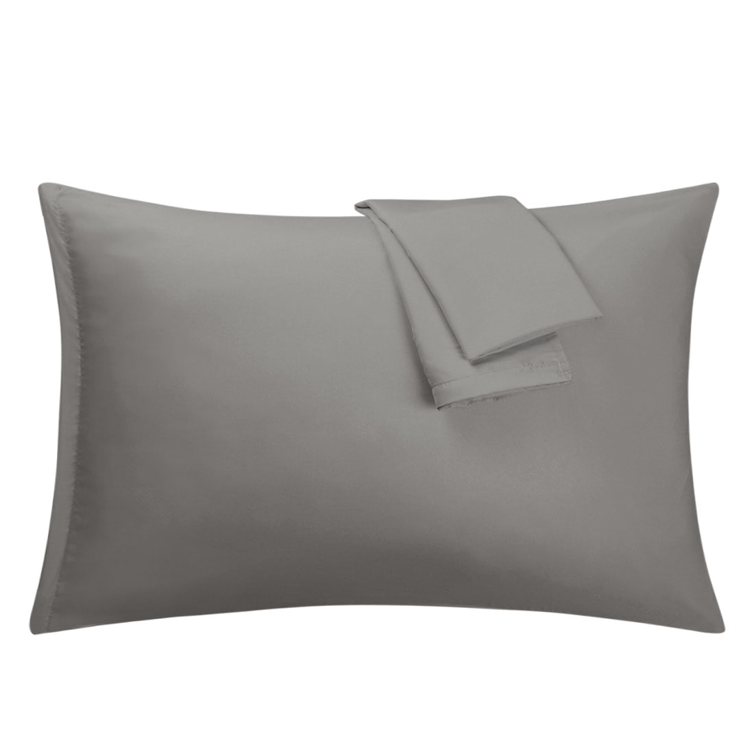 Grey Pillowcases Soft Microfiber Pillow Case Cover with Zipper Queen, 2 Pack