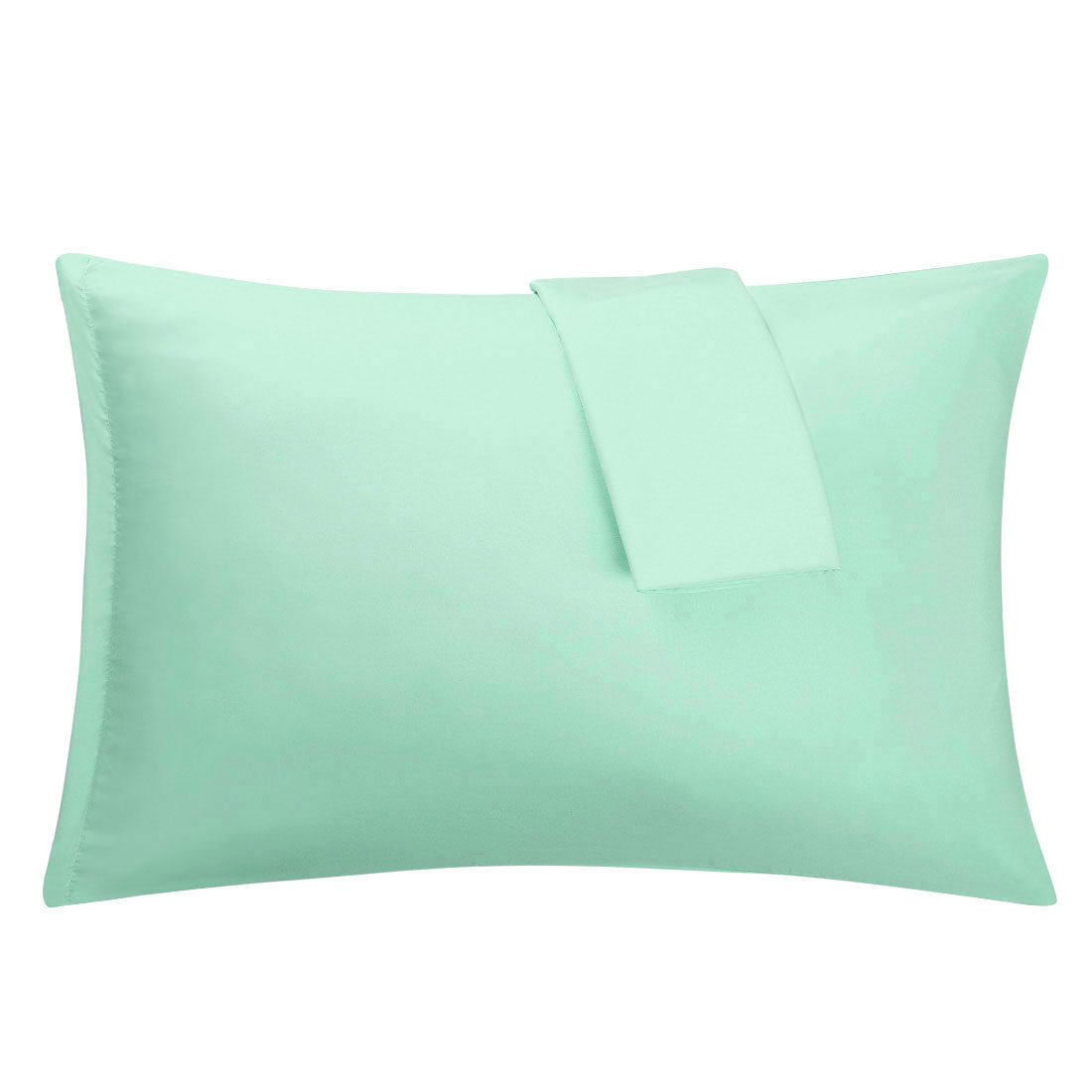 Spa Blue Pillowcases Soft Microfiber Pillow Case Cover with Zipper Queen, 2 Pack