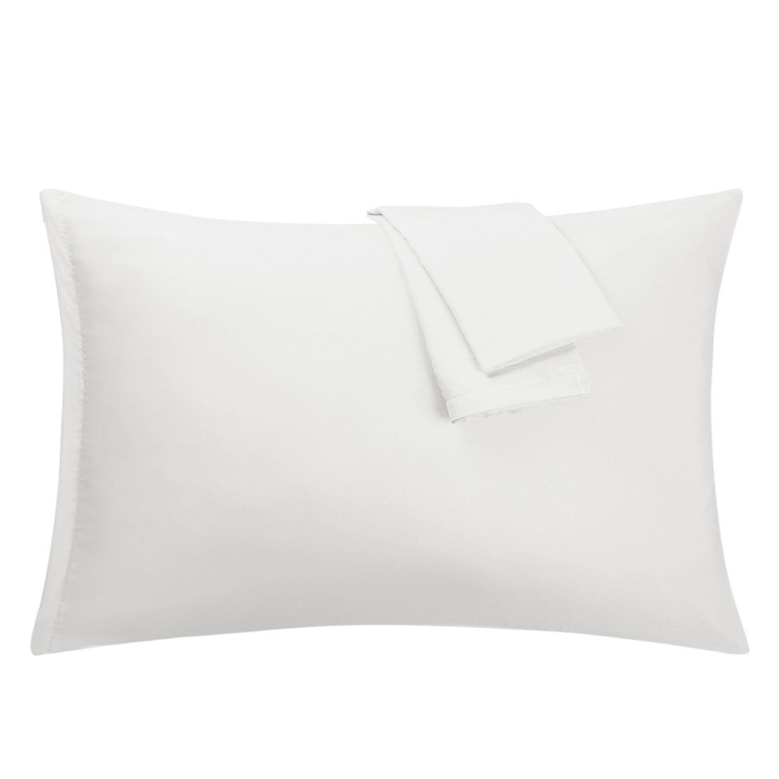White Pillowcases Soft Microfiber Pillow Case Cover with Zipper King, 2 Pack