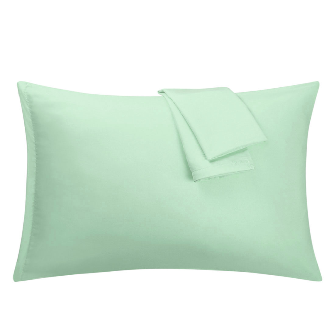 Spa Blue Pillowcases Soft Microfiber Pillow Case with Zipper King, 2 Pack
