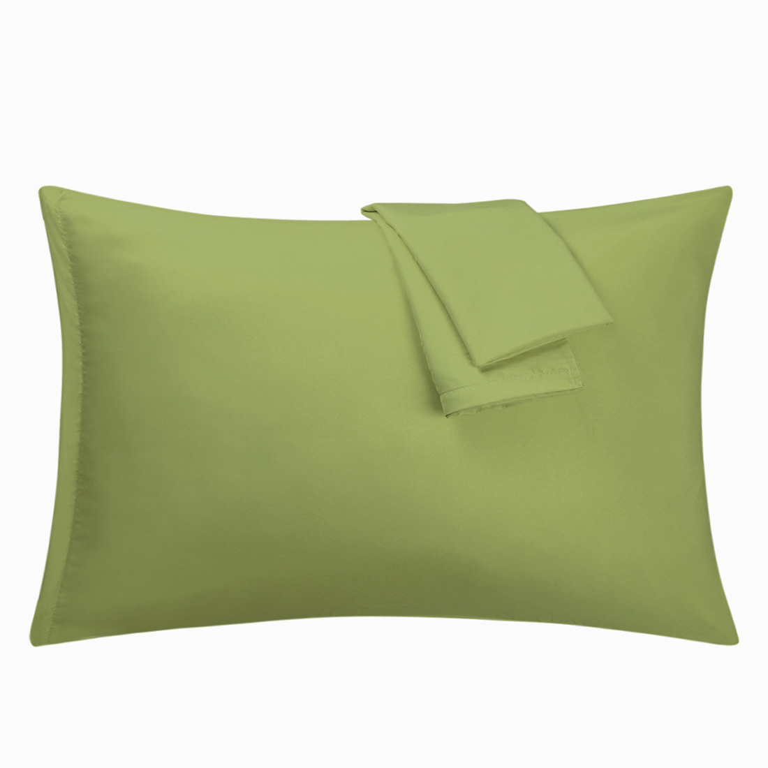 Sage Pillowcases Soft Microfiber Pillow Case Cover with Zipper King, 2 Pack