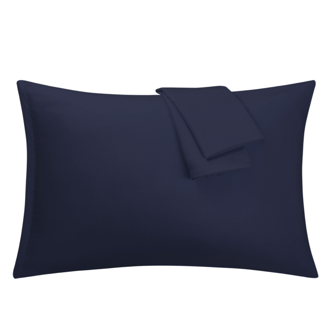 Navy Pillowcases Soft Microfiber Pillow Case Cover with Zipper Queen, 2 Pack