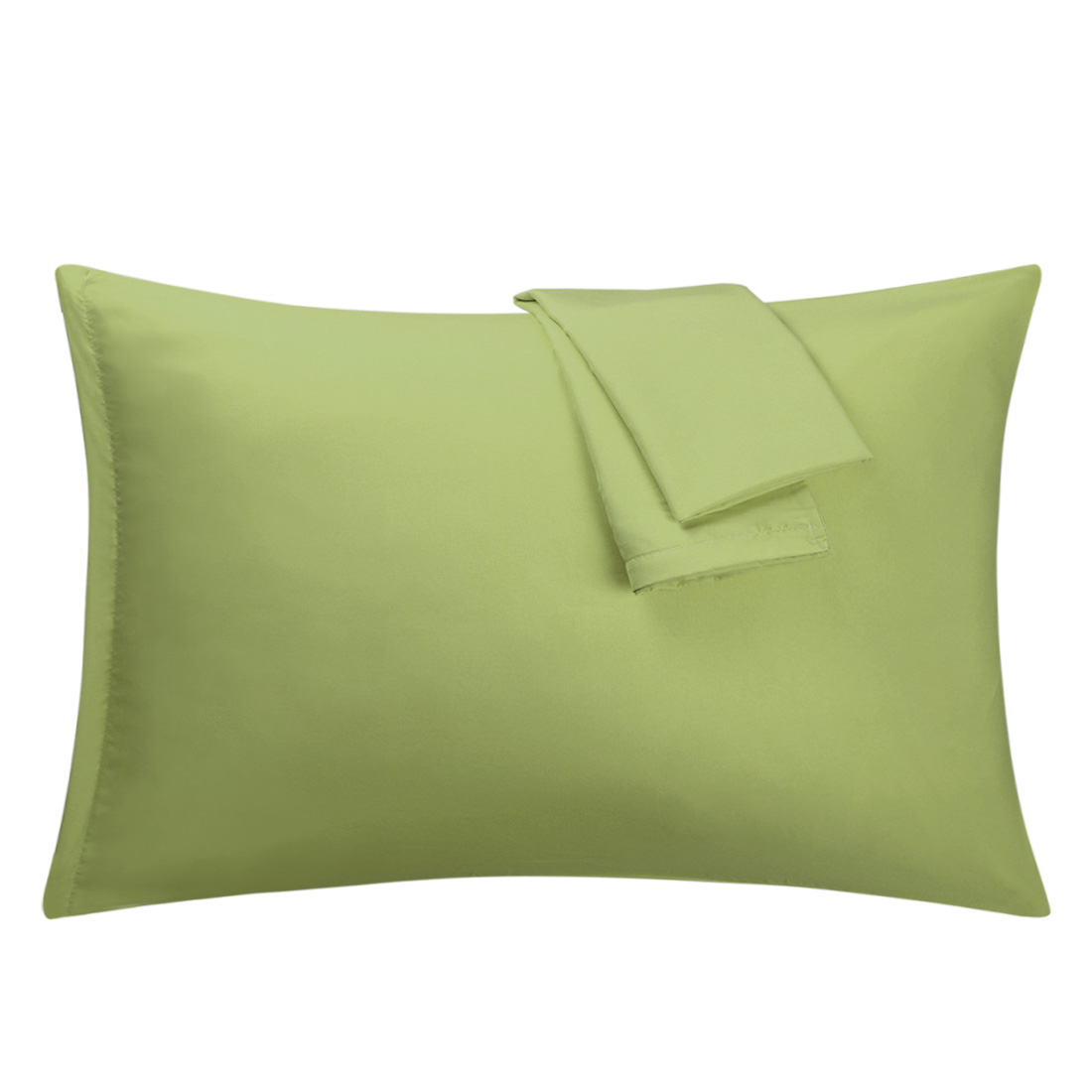 Sage Pillowcases Soft Microfiber Pillow Case Cover with Zipper Queen, 2 Pack