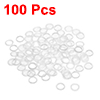 Nylon Flat Washers for M5 Screw Bolt 7.5mm OD 1mm Thick Clear 100PCS