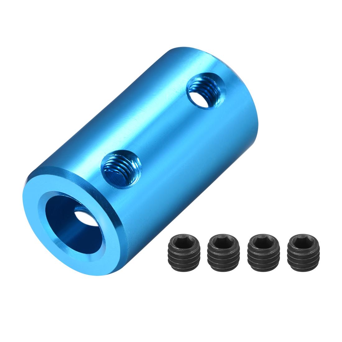 Shaft Coupling 8mm to 8mm L25xD14 Rigid Stepper Motor Wheel Coupler Connect Blue