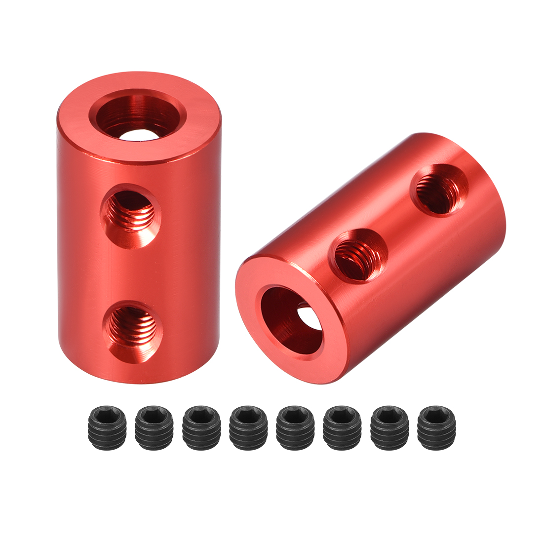 Shaft Coupling 6mm to 6mm Bore L20xD12 Robot Motor Wheel Rigid Coupler Red 2 PCS