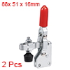 Toggle Clamp TT-101-AI Vertical Quick-Release Hand Tool 80Kg/176Lbs Capacity2pcs