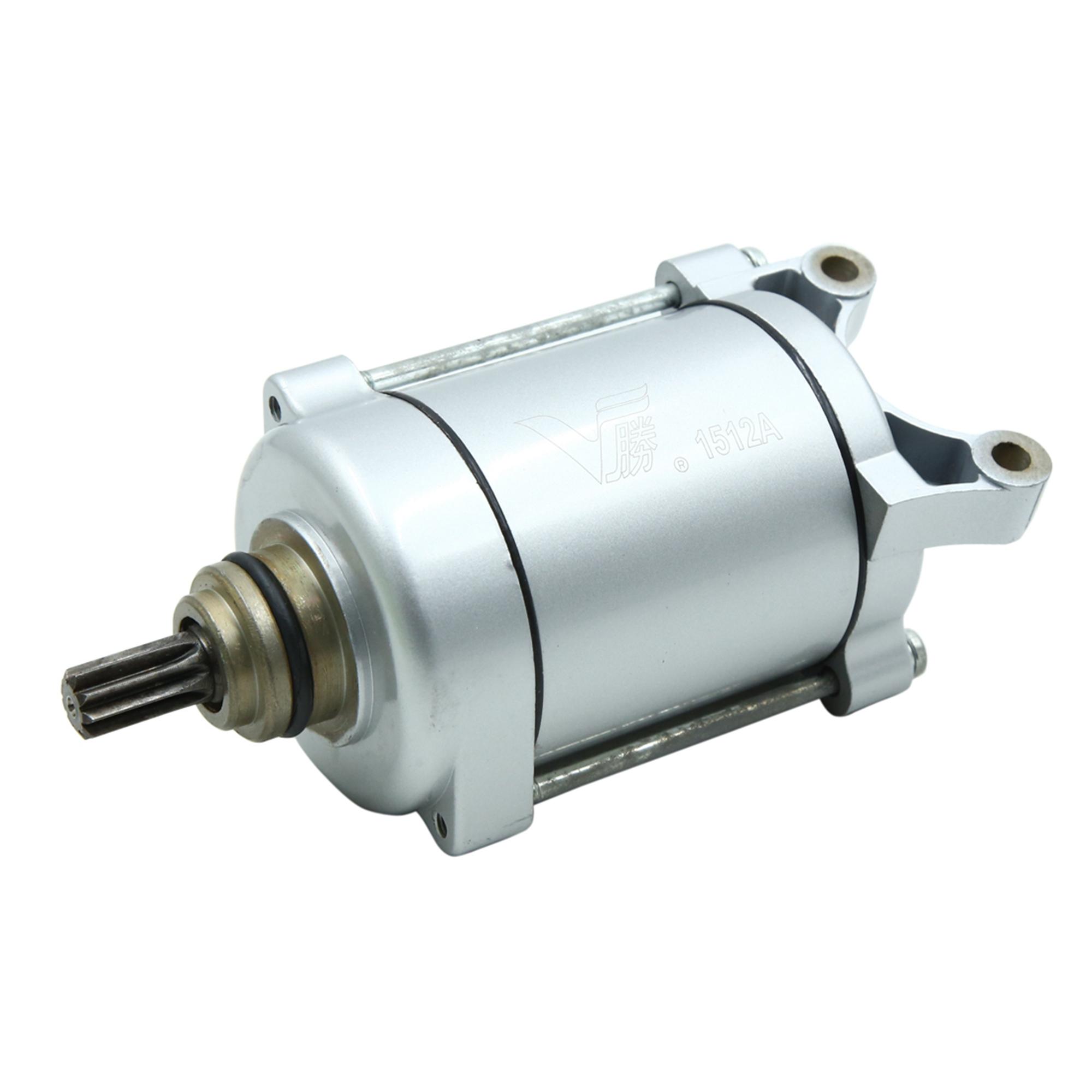 Silver Tone Motorcycle Motorbike Engine Power Starter Motor for Honda CG-125