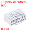 Spring Connectors, Quick Wire Connector Terminal Block 3 Positions 15pcs