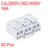 Spring Connectors, Quick Wire Connector Terminal Block 3 Positions 20pcs