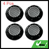 Black 68mm Car Wheel Tire Center Hub Caps w/ Carbon Fiber Pattern Sticker 4pcs