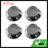 68mm Car Wheel Tire Center Hub Caps Cover w/ Carbon Fiber Pattern Sticker 4pcs
