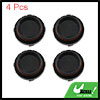 Black 64mm Car Wheel Tyre Tire Rim Center Hub Caps Cover Protector 4pcs