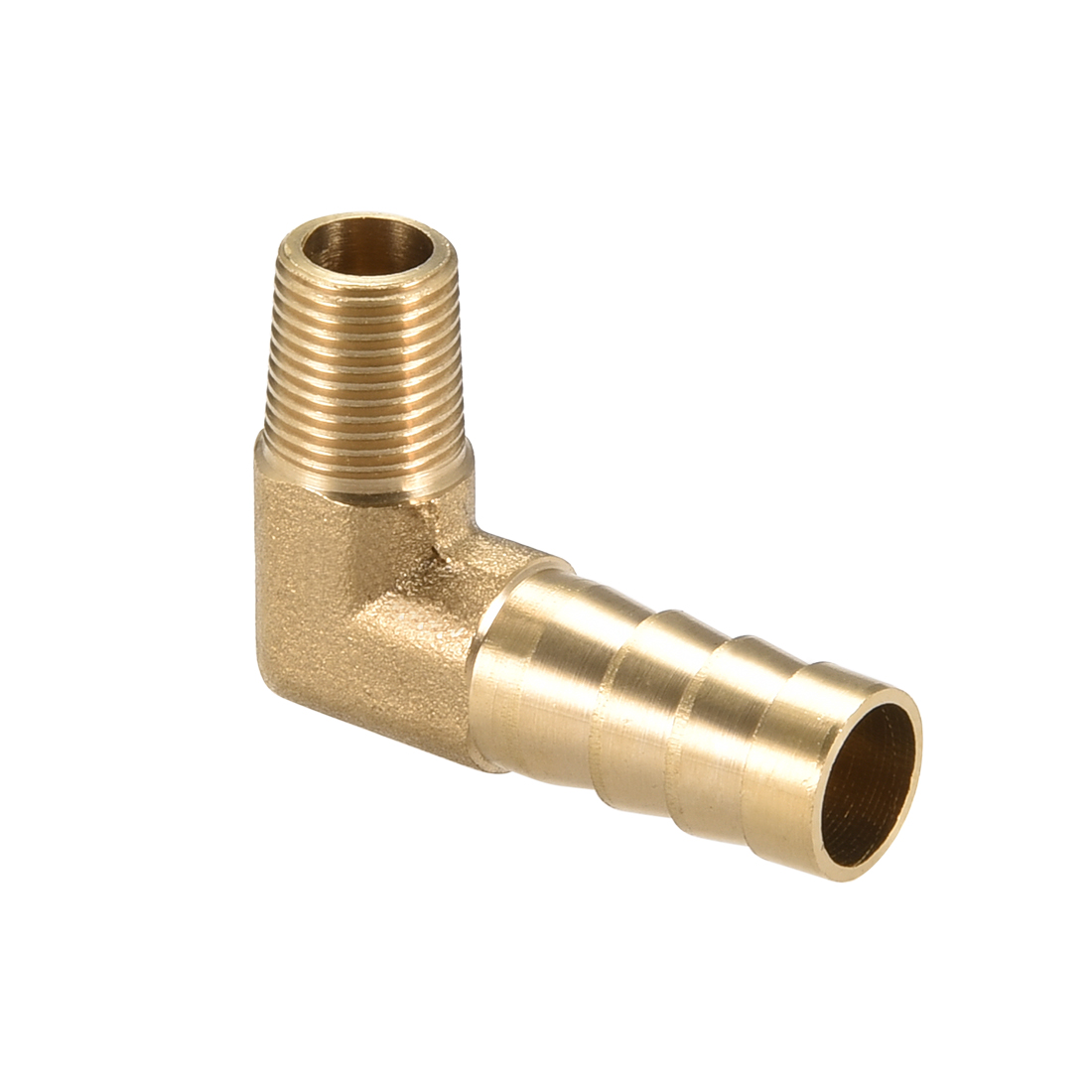 """Brass Barb Hose Fitting 90 Degree Elbow 10mm Barbed x 1/8"""" G Male Pipe"""