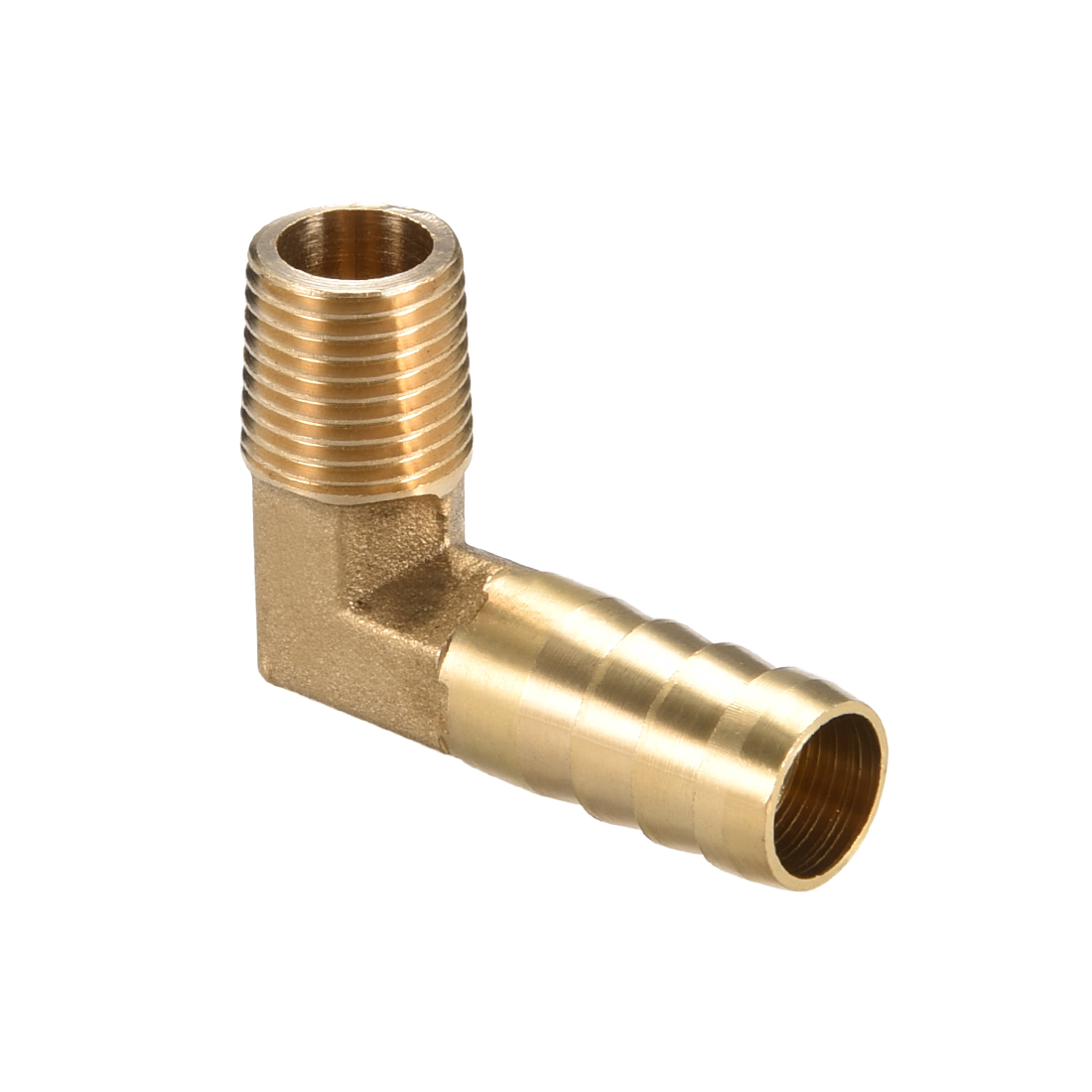"""Brass Barb Hose Fitting 90 Degree Elbow 12mm Barbed x 1/4"""" G Male Pipe"""