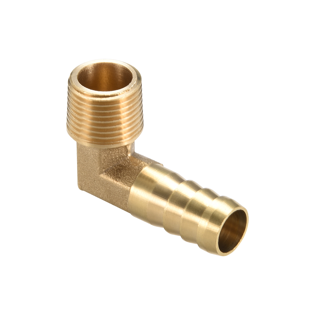 "Brass Barb Hose Fitting 90 Degree Elbow 12mm Barbed x 3/8"" G Male Pipe"