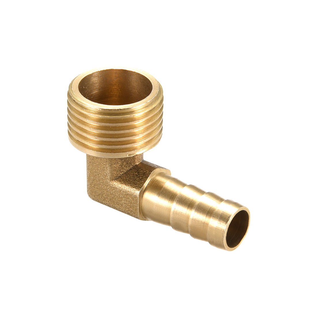 "Brass Barb Hose Fitting 90 Degree Elbow 10mm Barbed x 1/2"" G Male Pipe"
