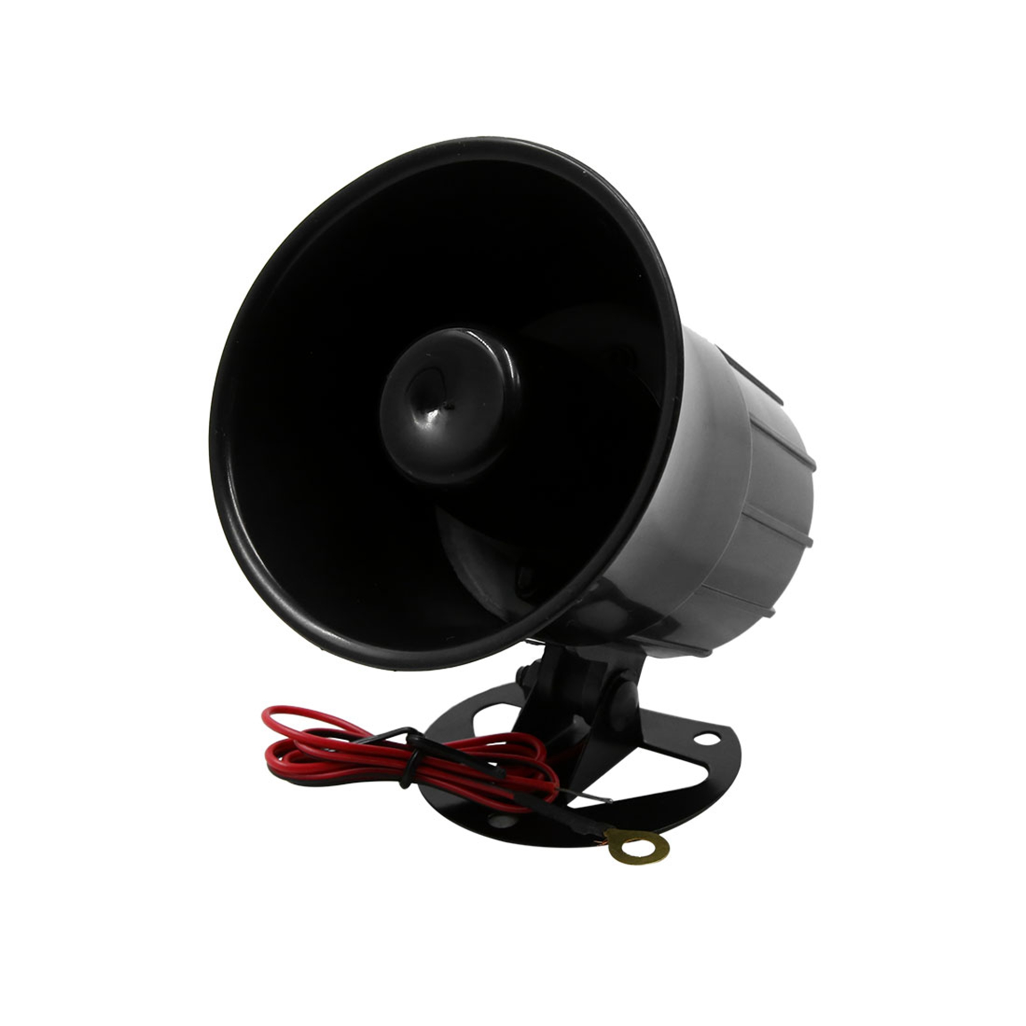 Car Siren Horn Waterproof Electric Trumpet Speaker DC12V 15W 105db Black