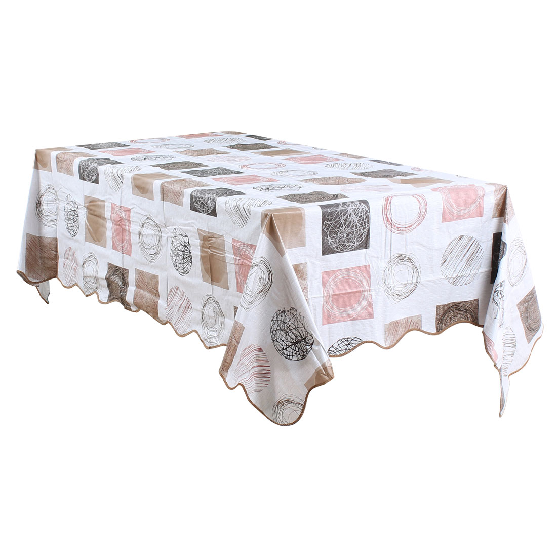 "Tablecloth PVC Vinyl Rectangle Table Cover Oil Stain Resistant 54"" x 71"", #5"
