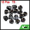 15pcs T5 Twist Socket Light Bulbs Plug for Car Instrument Panel Cluster Dash