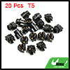 20pcs T5 Twist Socket Light Bulbs Plug for Car Instrument Panel Cluster Dash
