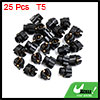 25pcs T5 Twist Socket Light Bulbs Plug for Car Instrument Panel Cluster Dash