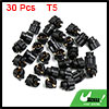 30pcs T5 Twist Socket Light Bulbs Plug for Car Instrument Panel Cluster Dash