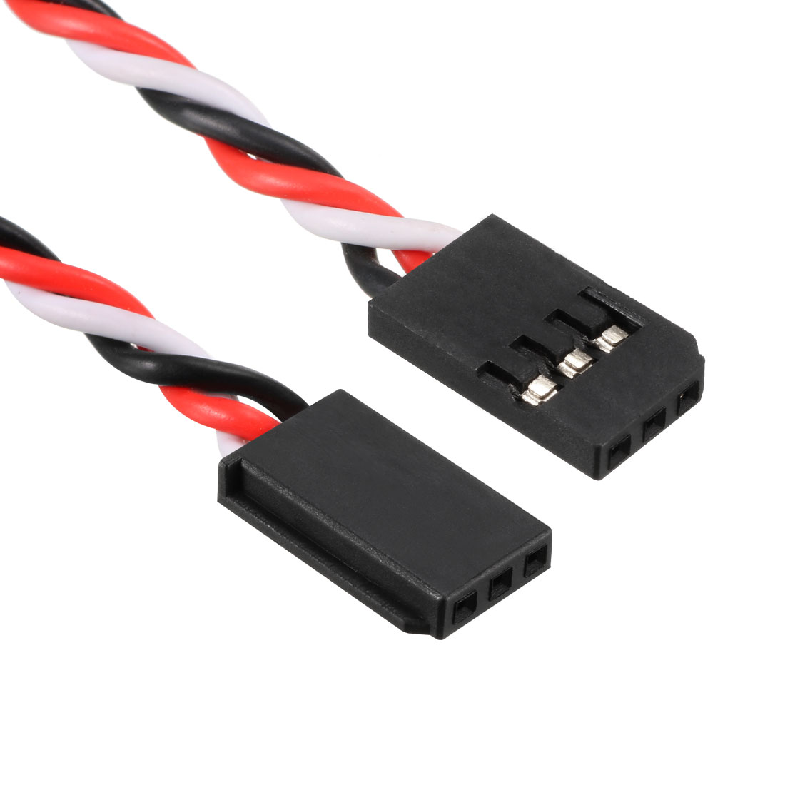5Pcs 100mm Servo Extension Cable Anti-reverse Plug 60 Core RC Futaba Lock